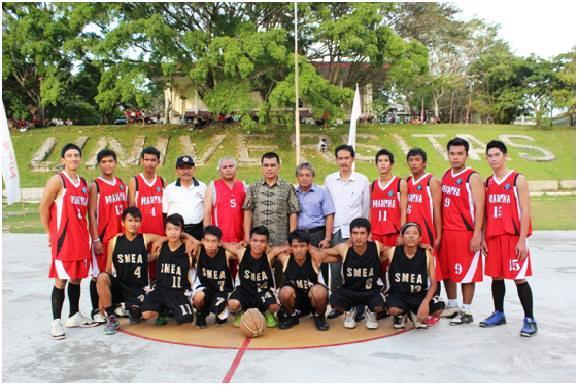 Pertandingan Bola Basket Lustrum VI Unib : 18 Peserta, SMKN I Kota Bengkulu Juara I