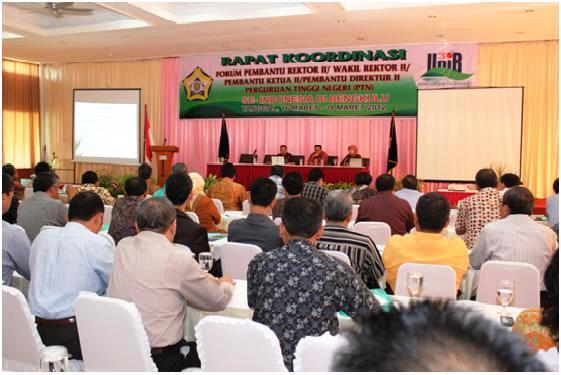 Lustrum VI, Unib Tuan Rumah Rakor PR II PTN se Indonesia