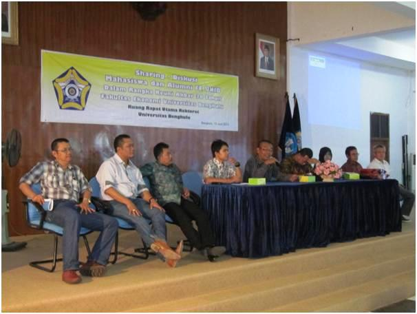Diskusi Mahasiswa dan Alumni FE Unib