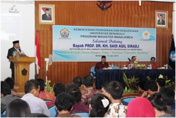 Kuliah Umum Prof. KH. Said Aqil : National Character Building