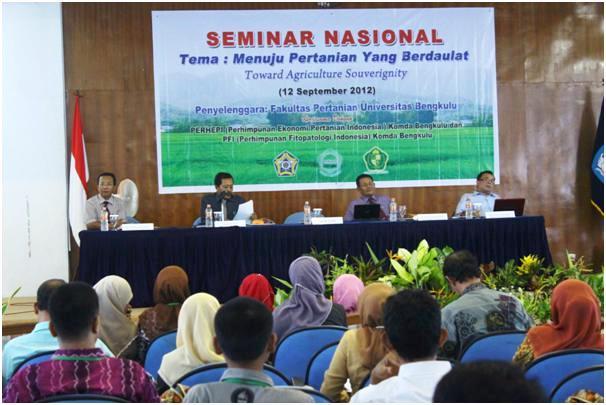 Seminar Nasional Menuju Pertanian yang Berdaulat