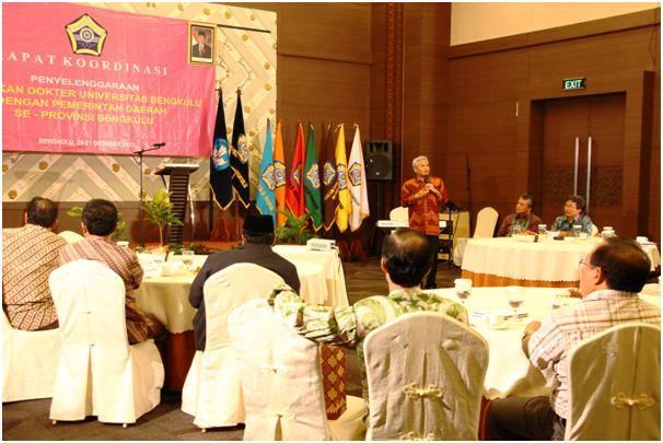 Rakor Kepala Daerah dan Pimpinan Unib, Bahas PSPD
