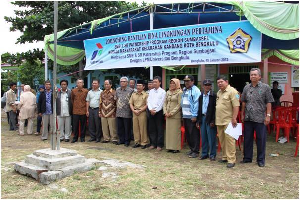 PT. Pertamina dan Unib Beri Bantuan Desa Binaan