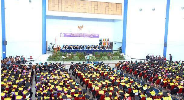 Wisuda Periode 71, Unib Tambah 609 Alumni