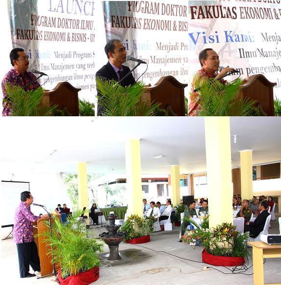 Rektor Launching Program Doktor Ilmu Manajemen