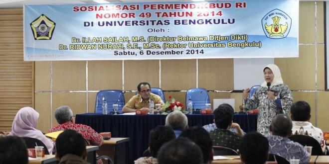 Direktur Belmawa Dikti Sosialisasi Standar Nasional Perguruan Tinggi