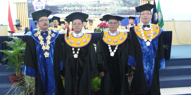 Profil Singkat 2 Guru Besar Unib yang Baru Dikukuhkan