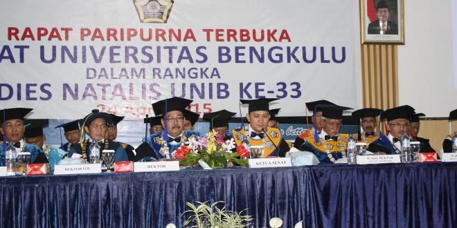 Puncak Dies Natalis ke-33 UNIB : Pidato Rektor dan Orasi Ilmiah