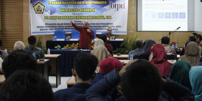 Kuliah Umum Prof. Dorodjatun : Bagaimana Memposisikan Pembangunan Bengkulu ?