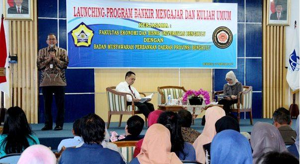 BMPD Launching Program Bankir Mengajar di UNIB