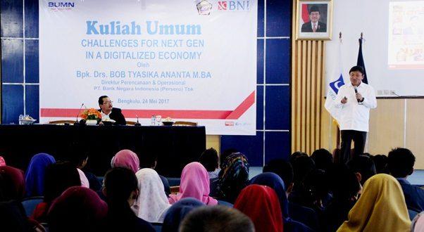 Direktur BNI Kuliah Umum dan Serahkan Bantuan Mobil Operasional UNIB