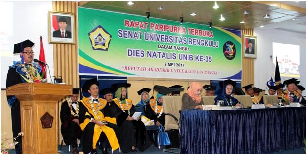 Pidato Rektor pada Puncak Dies Natalis ke-35 UNIB