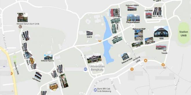 Peta Lokasi Pelaksanaan Tes SBMPTN Tahun 2017 di UNIB