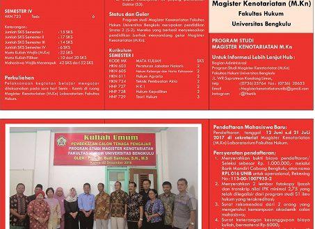 Magister Kenotariatan (M.Kn) Fakultas Hukum UNIB