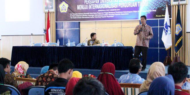 UPT KSLI Gelar Lokakarya Persiapan UNIB Menuju WCU