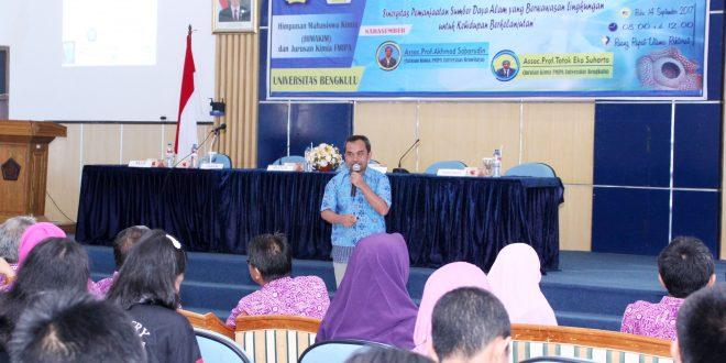 FMIPA Gelar Seminar Sinergisitas Pemanfaatan SDA Berwawasan Lingkungan