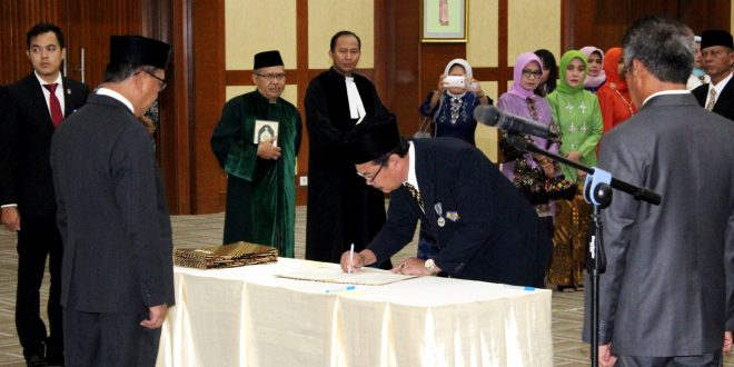 Pelantikan Rektor UNIB Periode 2017-2021