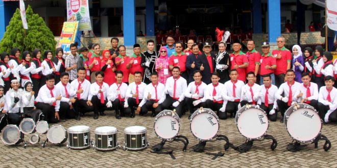 Perdana, Marching Band UNIB Pukau Pengunjung UNIB FAIR