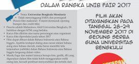 Kompetisi Film Pendek Dalam Rangka UNIB FAIR 2017