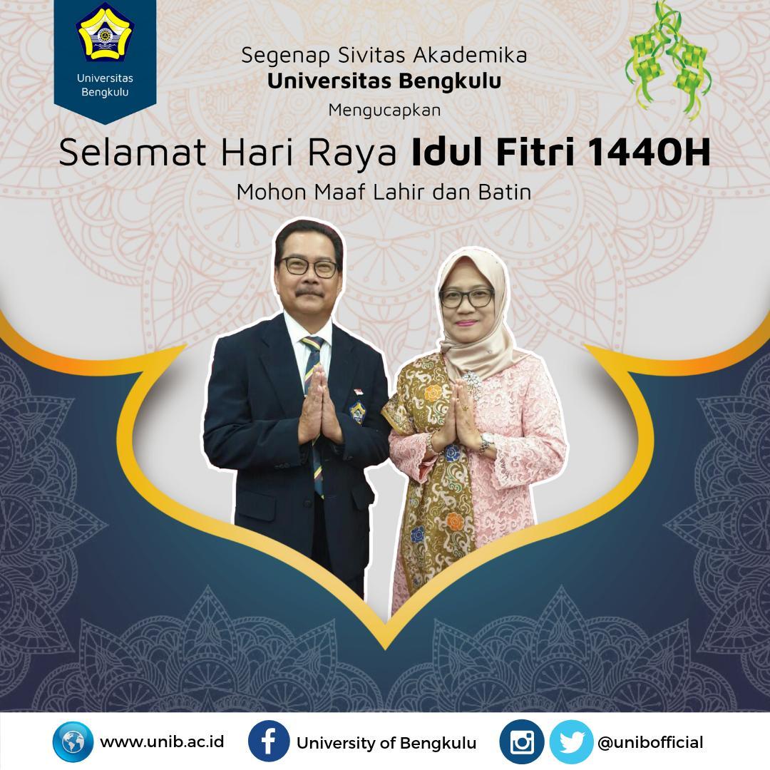 Selamat Hari Raya Idul Fitri 1440 H Universitas Bengkulu