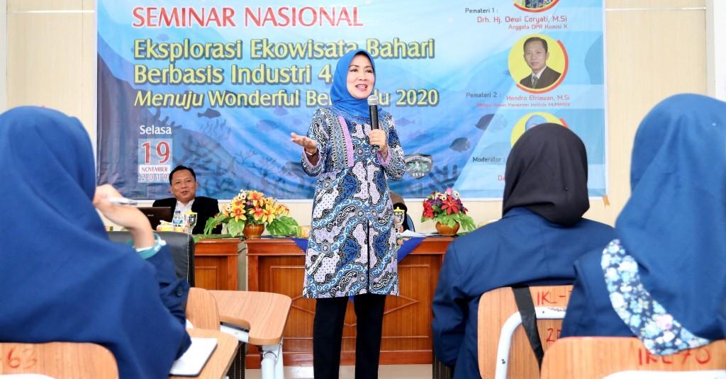 IKL UNIB | Anggota Komisi X DPR RI Ajak Mahasiswa Viralkan Destinasi Wisata Bengkulu