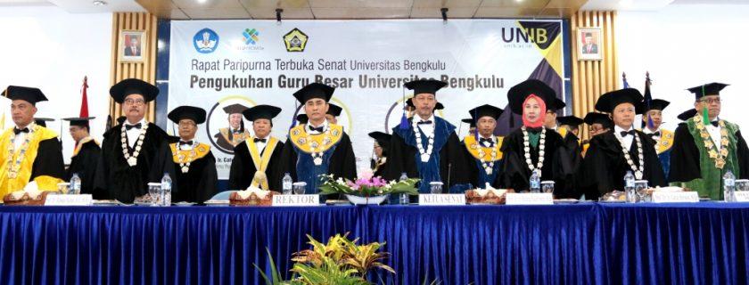 UNIB Tambah 3 Guru Besar, Termasuk Rektor