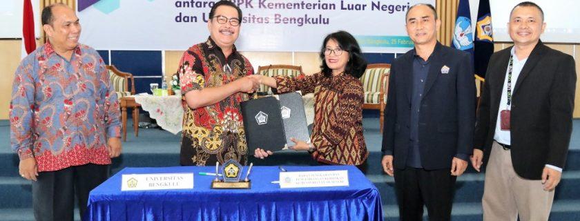 BPPK Kemenlu dan UNIB Gelar Distas Strategi Pengembangan Ekspor Komoditas Bengkulu