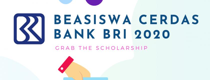 Beasiswa Indonesia Cerdas Bank BRI Tahun 2020
