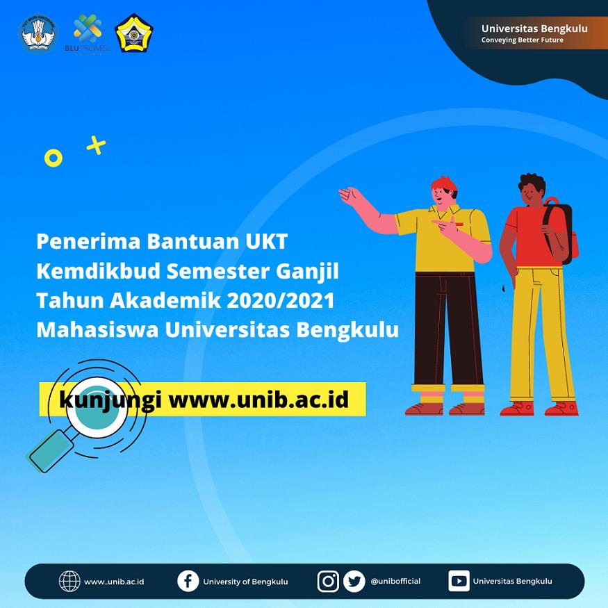 IKL UNIB | Penerima Bantuan UKT Kemdikbud Semester Ganjil Tahun Akademik 2020/2021 Mahasiswa Universitas Bengkulu