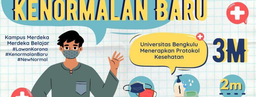 Rambu-Rambu 3M Kenormalan Baru Universitas Bengkulu