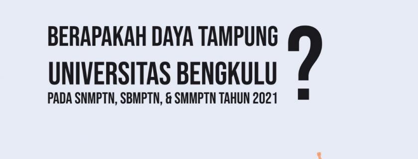 Daya Tampung Universitas Bengkulu pada SNMPTN, SBMPTN, & SMMPTN Tahun 2021