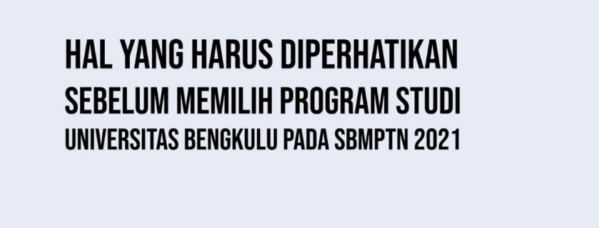 Prasyarat Jurusan SLTA untuk Program Studi Universitas Bengkulu pada SBMPTN 2021