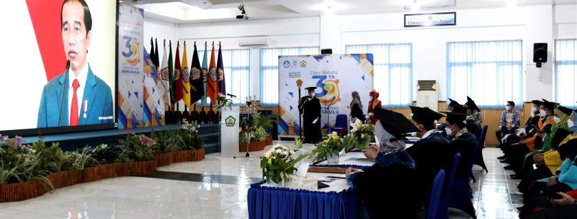 Presiden Joko Widodo pada Dies Natalis Ke-39 UNIB :  Tingkatkan Inovasi dan Merdeka Belajar