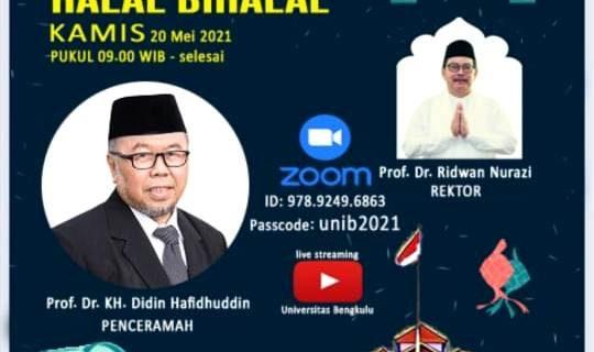 Universitas Bengkulu Gelar Halal Bi Halal Virtual