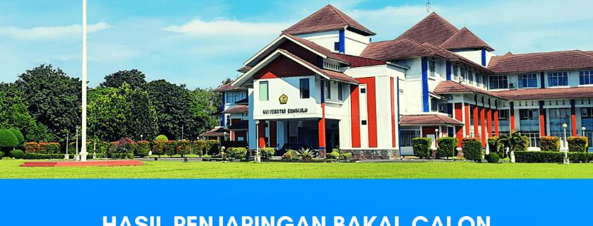 Hasil Penjaringan Bakal Calon Rektor Unib Periode 2021-2025