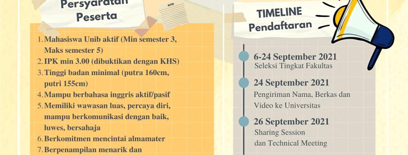 Pemilihan Duta Kampus Universitas Bengkulu 2021