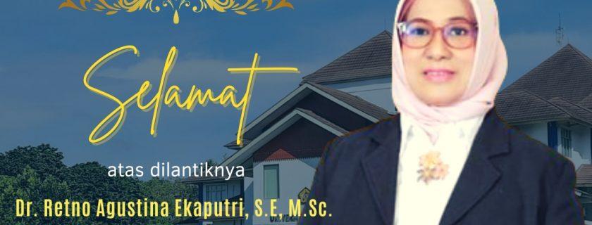 Selamat atas dilantiknya Dr. Retno Agustina Ekaputri, S.E., M.Sc. sebagai Rektor Universitas Bengkulu Periode 2021-2025