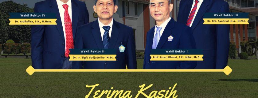 Terima Kasih kepada Para Wakil Rektor Universitas Bengkulu Periode 2017-2021