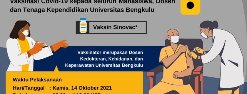 Vaksinasi untuk Mahasiswa, Dosen dan Tenaga Kependidikan Universitas Bengkulu