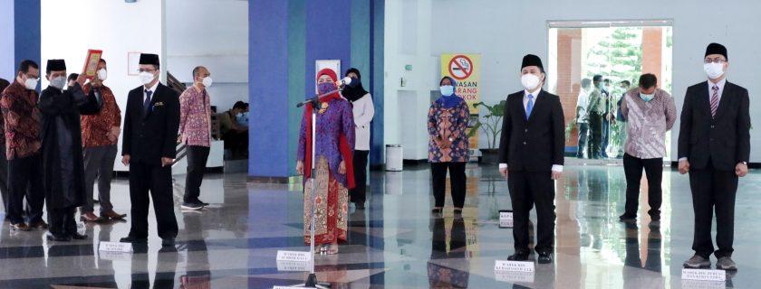 Pelantikan Empat Wakil Rektor UNIB 2021-2025
